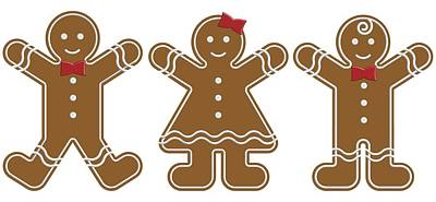 Photograph - Gingerbread People by Colette Scharf