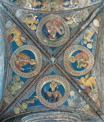 Giovan Pietro Da Cemmo, St Ambrose, St Art Print by Everett