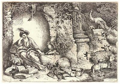 Melancholia Wall Art - Drawing - Giovanni Benedetto Castiglione Italian by Litz Collection
