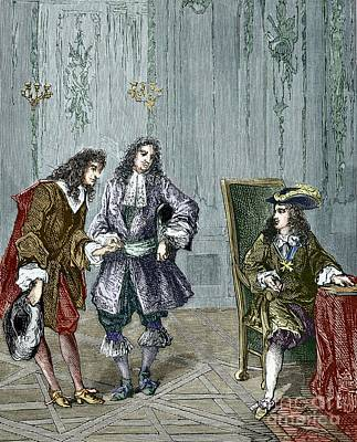 Giovanni Cassini And King Louis Xiv Art Print by Sheila Terry