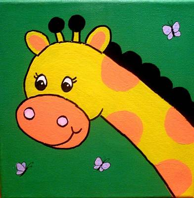 Painting - Giraffe by Anne Gardner