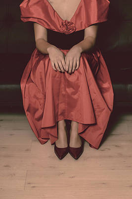 Girl On Black Sofa Art Print by Joana Kruse
