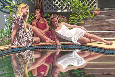 Girl Talk Art Print by David Linton