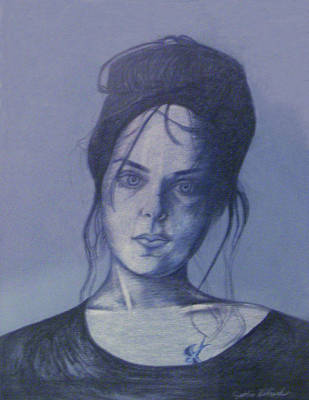 Drawing - Girl With Tattoo by Cynthia Hilliard