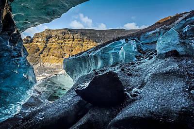 Glacial Ice Cave, Fallsjokull Art Print by Panoramic Images