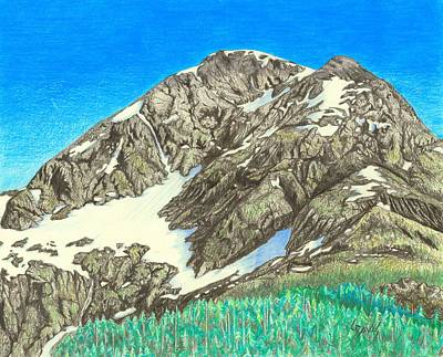 Drawing - Glacier 2 by Lew Davis