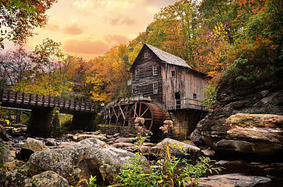 Design Turnpike Books - Glade Creek Grist Mill by Lj Lambert