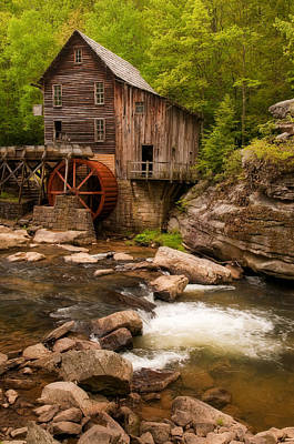Glade Creek Grist Mill Art Print by Michael Blanchette