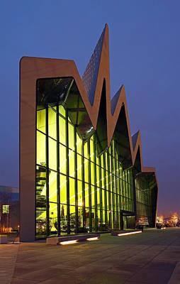 Night Scenes Photograph - Glasgow Riverside Museum by Grant Glendinning