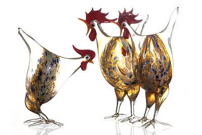 Glass Poultry Art Print by Dirk Ercken