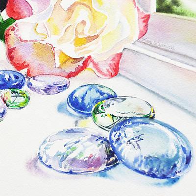 Best Watercolor Painting - Glass Rocks by Irina Sztukowski