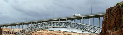 Fed Photograph - Glen Canyon Dam Bridge by Jim West