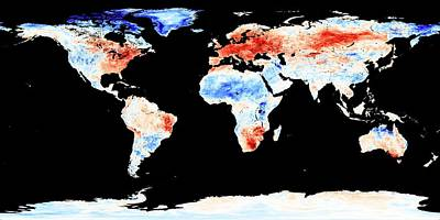 Satellite Image Photograph - Global Warming Record by Jesse Allen, Nasa Earth Observatory/modis Land Group