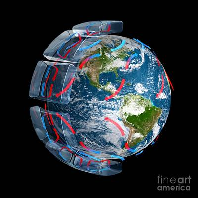Coriolis Photograph - Global Winds, Artwork by Carlos Clarivan
