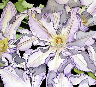 Clematis Painting - Glory Of Spring by Kimberly Walker