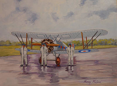Print featuring the painting Gloster Gamecock by Murray McLeod