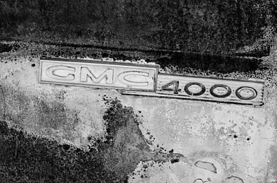 Photograph - Gmc 4000 V6 Pickup Truck Side Emblem by Jill Reger