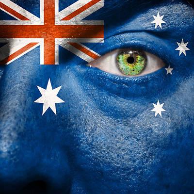 Fanatic Photograph - Go Australia by Semmick Photo
