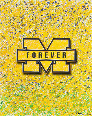 Hockey Painting - Go Michigan by Lance Graves