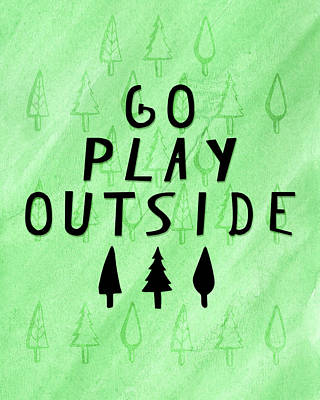 Go Play Outside Art Print by Amy Cummings
