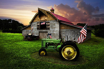 Tennessee Hay Bales Photograph - God Bless America by Debra and Dave Vanderlaan