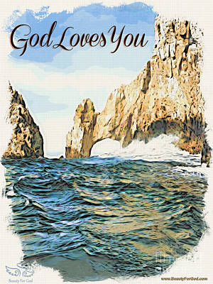 God Loves You Art Print