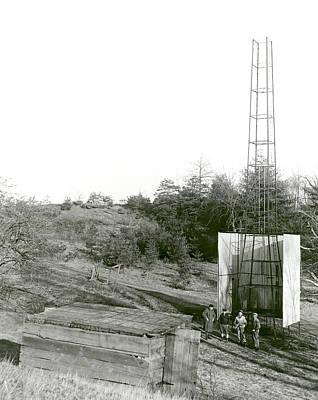 Goddard Rocket Launch Tower Art Print