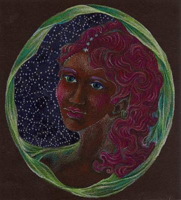 Drawing - Goddess In The Window To The Sky by Lydia Erickson