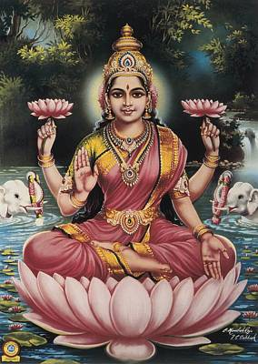 Hindu Goddess Photograph - Goddess Srhi Sentamarai Laximi, Wife by Everett