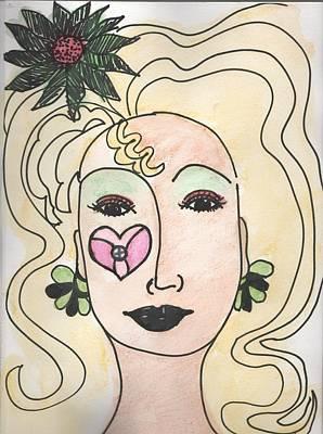 Drawing - Goddess Three by Phyllis Anne Taylor Pannet Art Studio