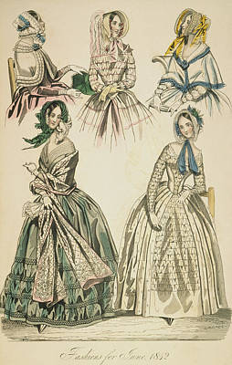 Godey's Lady's Book, 1842 Art Print by Granger