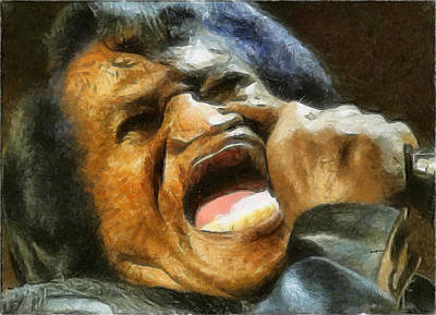 Soul Man Painting - Godfather Of Soul by Anthony Caruso