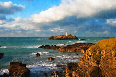 Godrevy Lighthouse Art Print