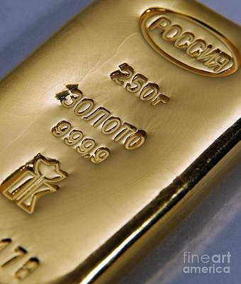 Hallmark Photograph - Gold Bullion by RIA Novosti