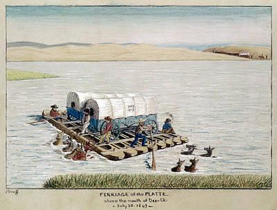 Canoe Drawing - Gold Rush, 1849 by Granger