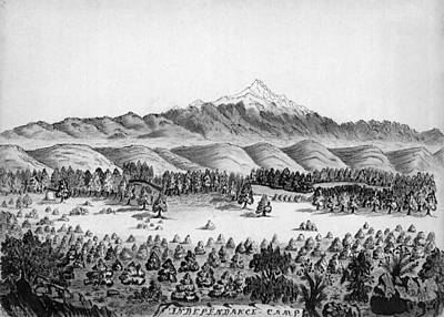 Independence Mine Drawing - Gold Rush, 1859 by Granger