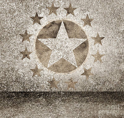 Gold Star Hollywood Event Background. Walk Of Fame Art Print
