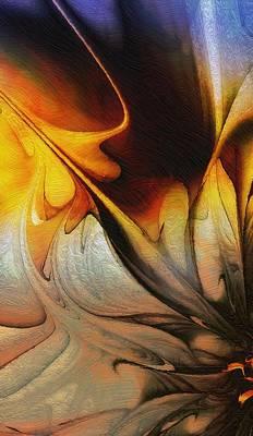 Framed Art Digital Art - Gold-tipped by Amanda Moore