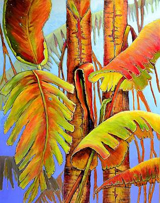 Painting - Golden Banana Jungle by JAXINE Cummins