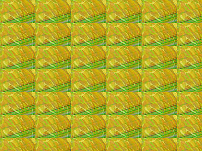 Healing Painting - Golden Colorful Waves Energy Textures Patterns Background Designs  And Color Tones N Color Shades Av by Navin Joshi