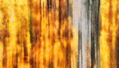 Autumn Foliage Mixed Media - Golden Days Of Autumn by Dan Sproul