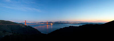 Golden Gate Bridge Across The Bay Art Print by Panoramic Images