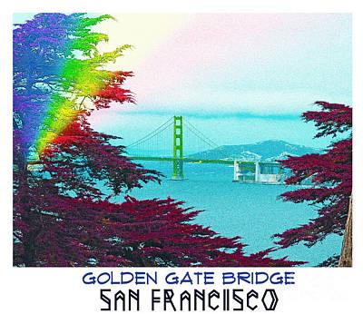 Digital Art - Golden Gate Bridge by Celestial Images