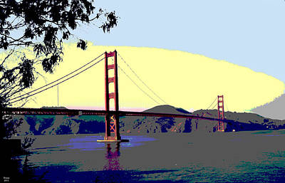 Golden Gate Bridge Art Print by Charles Shoup