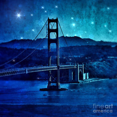 Photograph - Golden Gate Bridge Night by Jill Battaglia