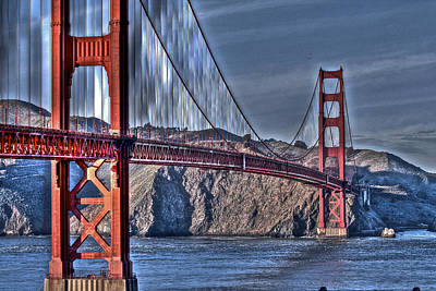Photograph - Golden Gate Bridge Over The Bay by SC Heffner
