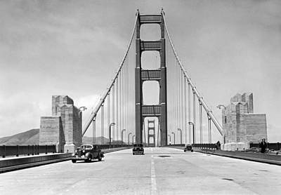 Journalism Photograph - Golden Gate Bridge Preview by Underwood Archives