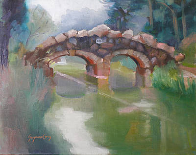 Painting - Golden Gate Park Footbridge Stowe Lake by Suzanne Giuriati-Cerny