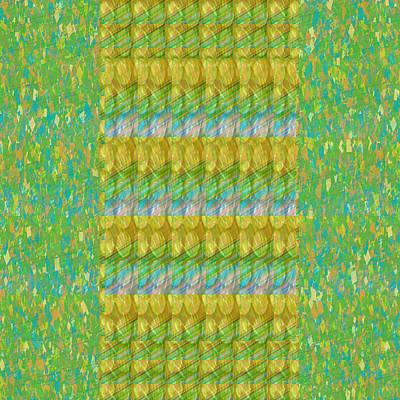 Golden Green Beads Crystals Pattern Chakra Mandala Style  Signature Art  Navinjoshi Artist Created I Art Print