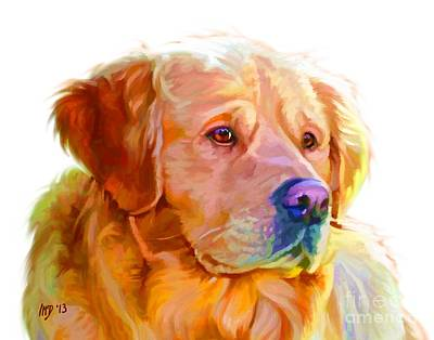 Retrievers Digital Art - Golden Retriever Art by Iain McDonald